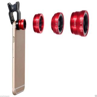 Ống kính mắt cá góc rộng 3 trong 1 cho điện thoại thumbnail