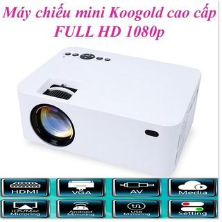 Máy Chiếu Phim Mini KOOGOLD ✔chính hãng✔️ Full HD, Kết Nối Wifi, Điện Thoại, Độ Phân Dải Cao, Sắc Nét. Bảo hành 12T