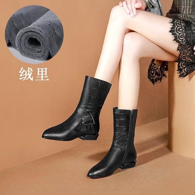 Giày Bốt Cao Gót 3cm