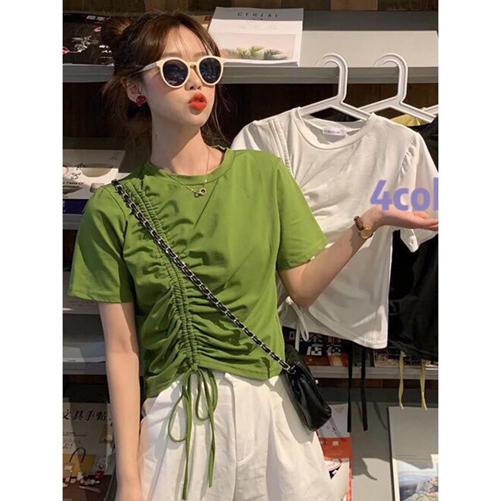 Áo thun ngắn tay màu xanh lá phong cách năng động trẻ trung dành cho nam