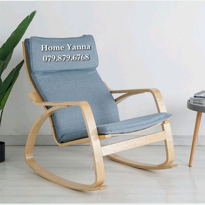 Ghế Poang Thư Giãn - Rocking Chair Cao Cấp - Ghế Đọc Sách