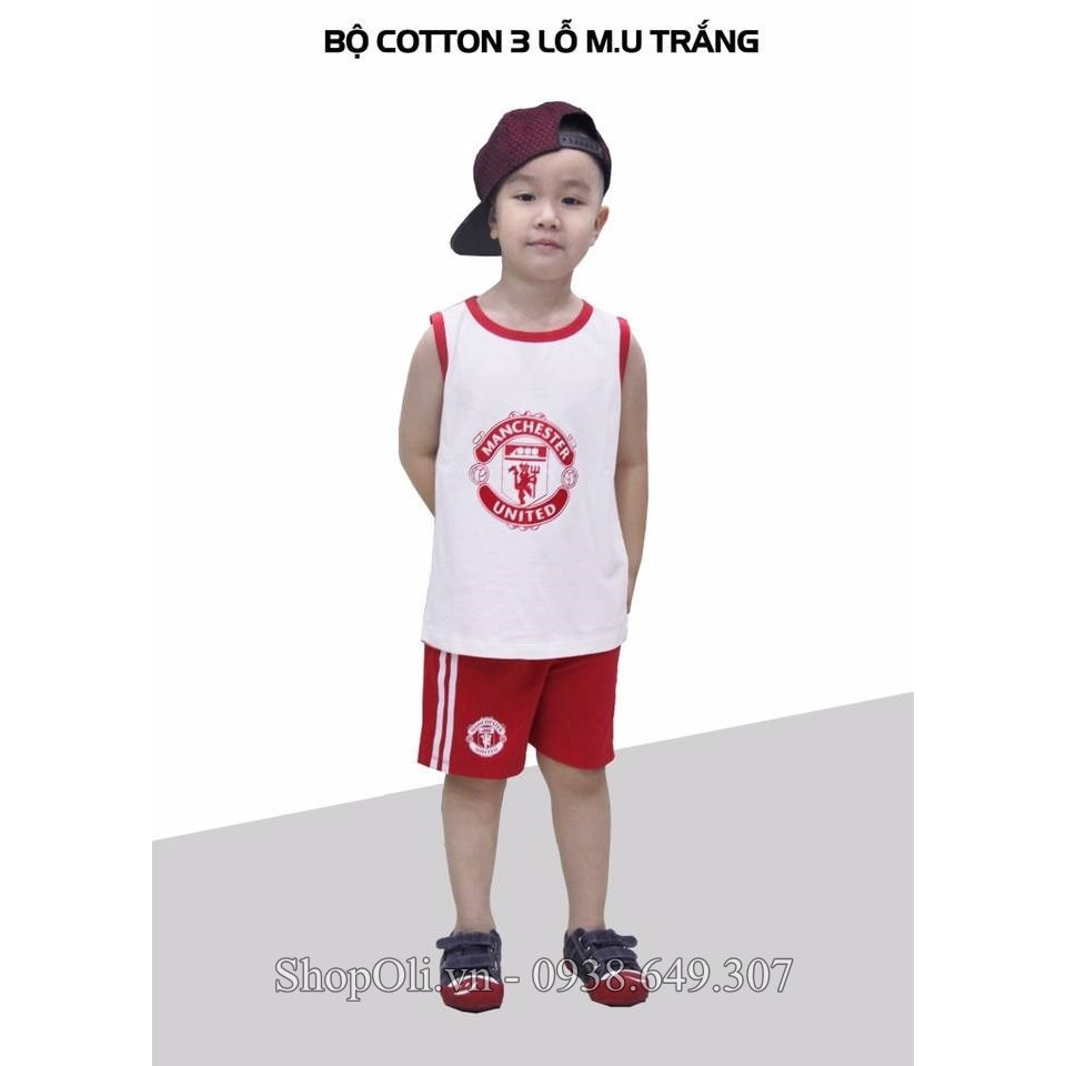 Đồ trẻ em ba lỗ cotton 100% thể thao Manchester United trắng đỏ - 10013724 , 345888320 , 322_345888320 , 120000 , Do-tre-em-ba-lo-cotton-100Phan-Tram-the-thao-Manchester-United-trang-do-322_345888320 , shopee.vn , Đồ trẻ em ba lỗ cotton 100% thể thao Manchester United trắng đỏ