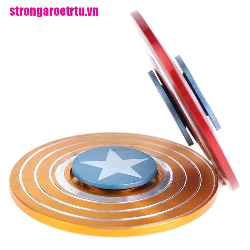 【well】Round American Captain Fingertip Gyro Shield Spinner Decompression Toy Fo