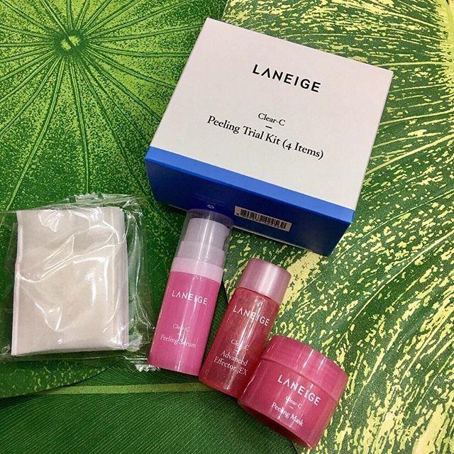 Bộ 4 món dưỡng trắng sáng da Laneige Clear C Peeling Trial Kit