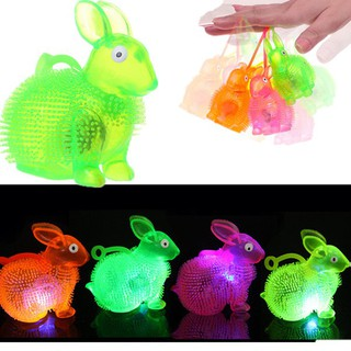 Flashing Light Up Spikey High Bouncing Balls Rabbit Ball