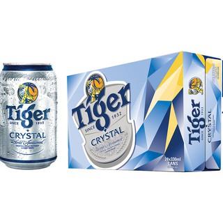 Lon Bia Tiger Bạc Crystal 330ml