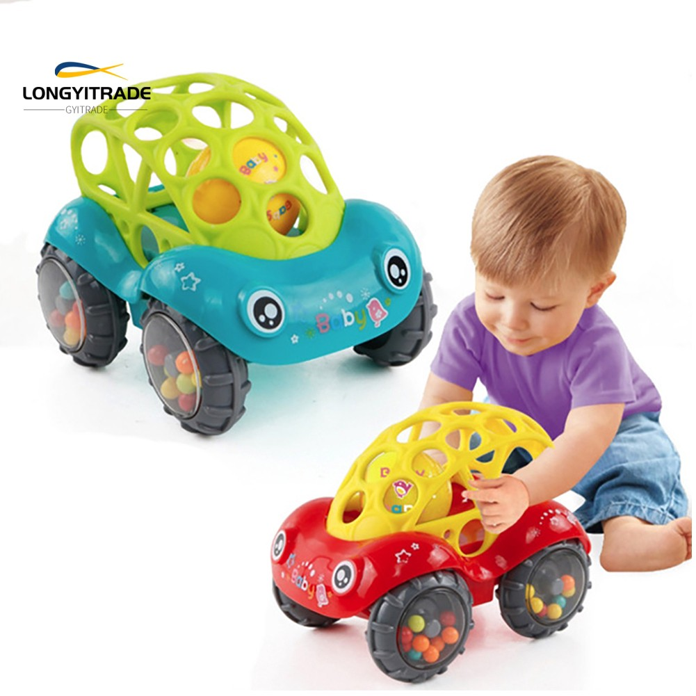 born  Car Toy Bell Ring Shaking Hand Grip Catch Ball Rattle