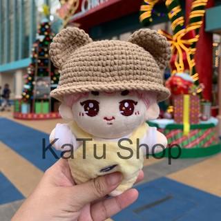 |OUTFIT DOLL KPOP| Nón tai gấu len handmade