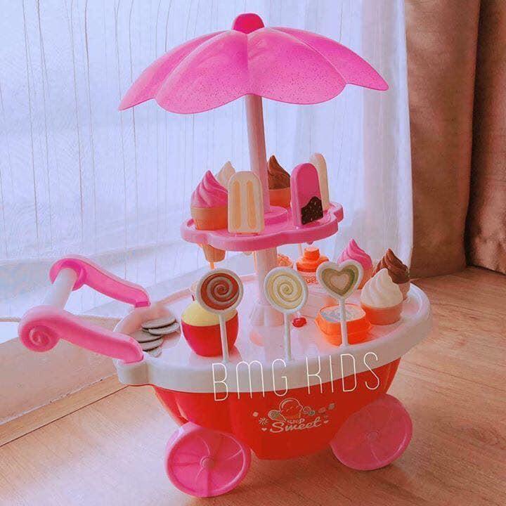 Bộ đồ chơi xe đẩy bánh kem 2 tầng có nhạc
