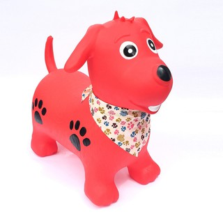 Thú nhún hình cún con màu đỏ Toys house PA1416