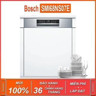 Máy rửa bát âm tủ bán phần Bosch SMI68NS07E TGB – Seri 6 , dung tích rửa 13 bộ ( Xuất sứ Đức – Bảo hành 36 tháng )