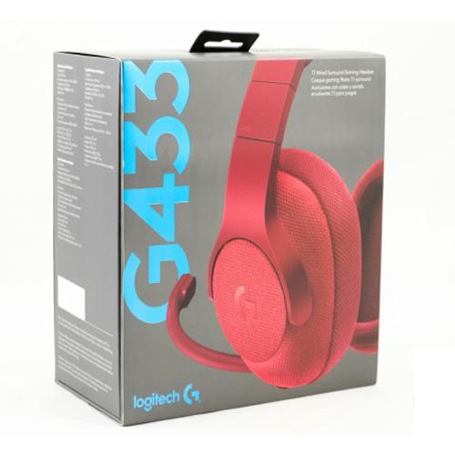 (BH24T - Hãng phân phối) Tai nghe gaming không dây Logitech G433 7.1 Wired Surround Gaming Headset m