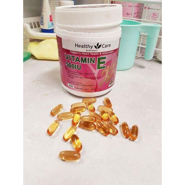Viên uống Healthy Care Vitamin E Úc 500IU - 200 viên - 3545712 , 1259418030 , 322_1259418030 , 580000 , Vien-uong-Healthy-Care-Vitamin-E-Uc-500IU-200-vien-322_1259418030 , shopee.vn , Viên uống Healthy Care Vitamin E Úc 500IU - 200 viên