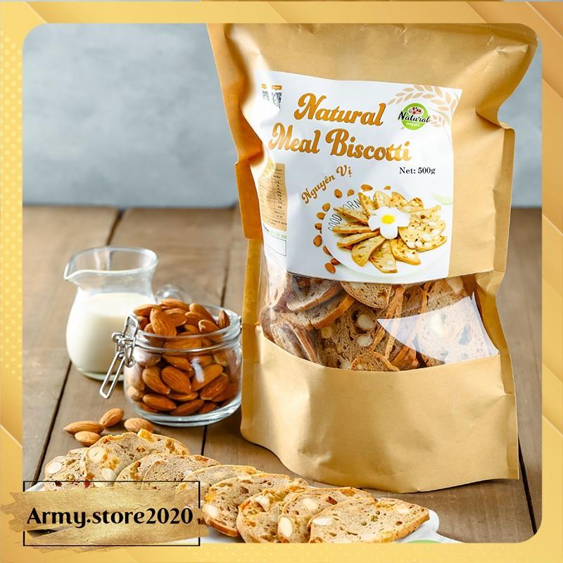 Bánh ăn kiêng Biscotti nguyên vị, bánh ăn kiêng nguyên cám - B01