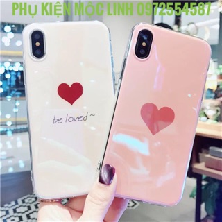 ỐP SILICON TIM BE LOVED BÓNG XÀ CỪ IPHONE 6 6s 6plus 6splus 7 7plus 8 8plus X xs max
