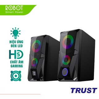 Loa Game Máy Tính ROBOT RS200 Hiệu Ứng Đèn LED – Âm Thanh HD Chất Lượng Cao – BẢO HÀNH 12 THÁNG