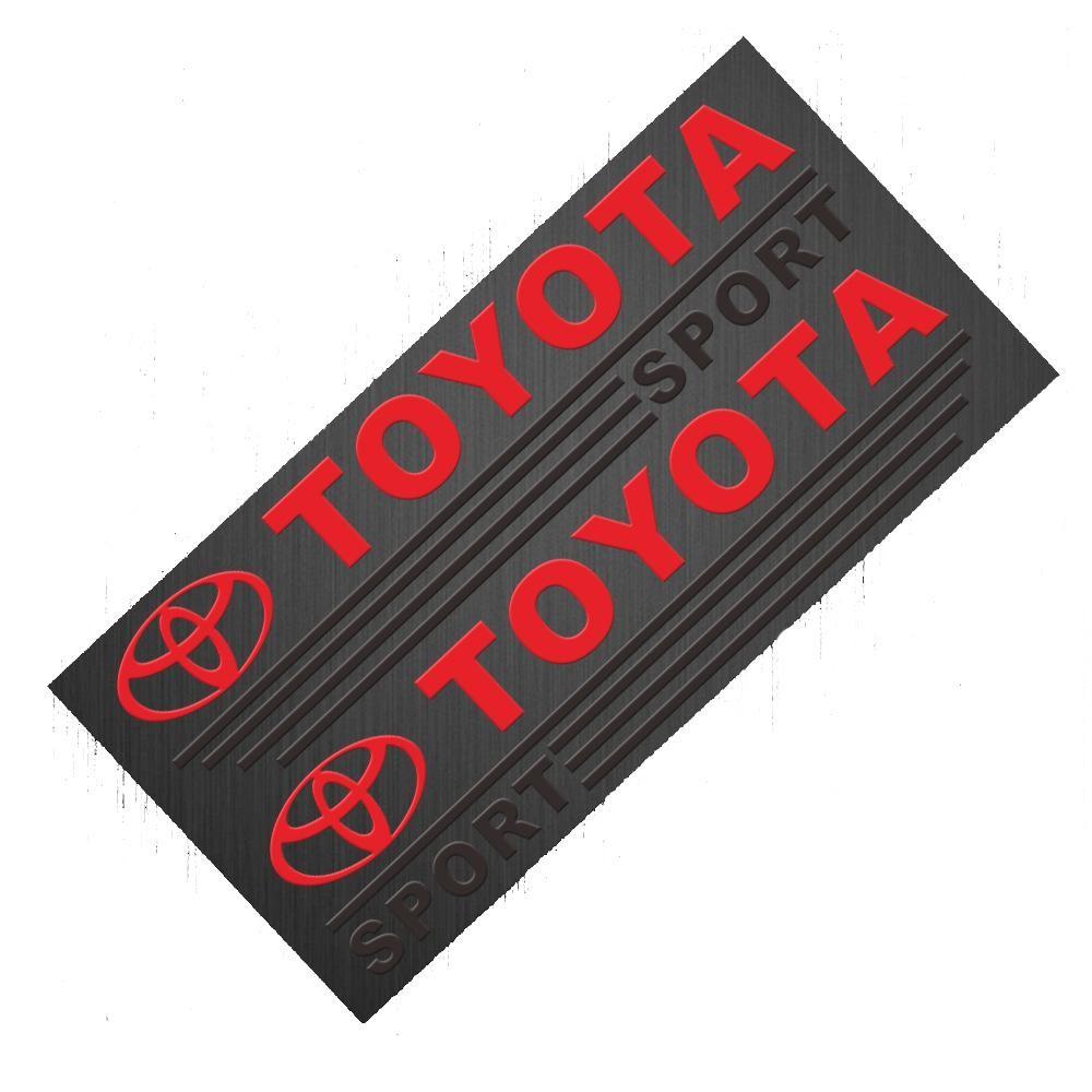 Decal Toyota dán gương chiếu hậu xe ô tô - Tem dán gương xe hơi
