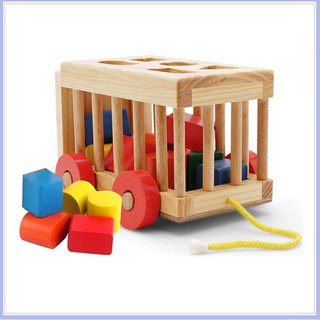 [TẾT SALE HẾT] Xe thả hình khối – đồ chơi giáo dục an toàn cho bé