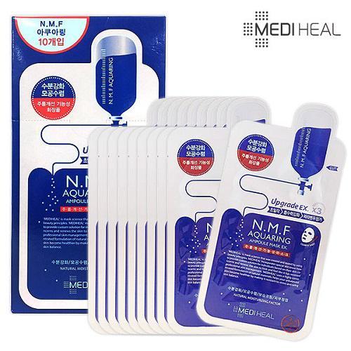 Bộ 10 gói Mặt nạ dưỡng ẩm, kiềm dầu Mediheal N.M.F Aquaring Ampoule Mask 25ml x10