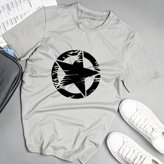 Áo phông nam ngôi sao đen phong cách unisex màu xám