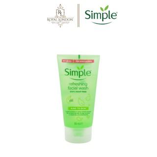 Hình ảnh [Mã FMCGMALL - 8% đơn 250K] Sữa Rửa Mặt Dịu Nhẹ Simple Kind To Skin Refreshing Facial Wash 150ml-0