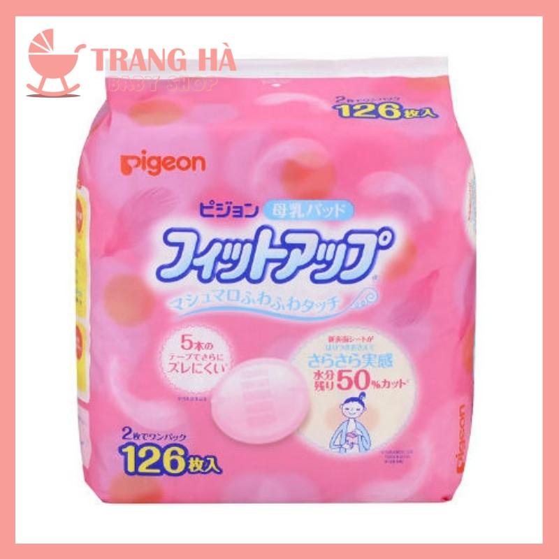 [Mã 267FMCGSALE giảm 8% đơn 500K] Miếng Lót Thấm Sữa Pigeon Nội Địa Nhật 126 Miếng