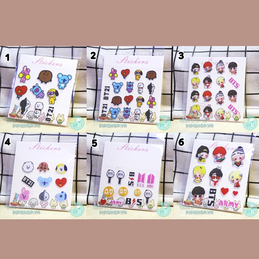 Hình dán sticker BTS (6 mẫu)