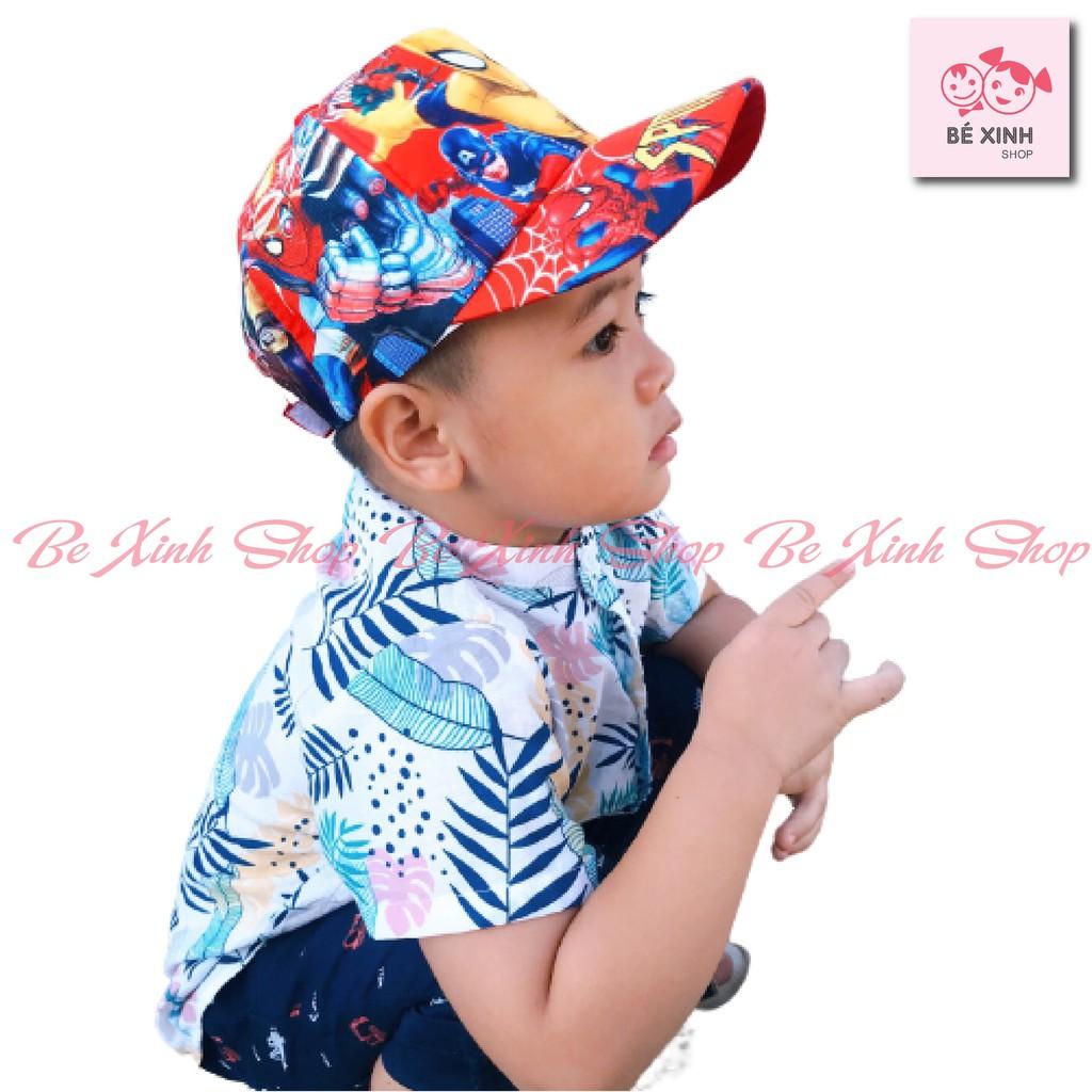 Mũ nón lưỡi trai cho bé trai bé gái trẻ em [Xã Kho] Mũ nón em bé trai gái lưỡi trai kết SIÊU NHÂN, DOREMON, ELSA, HIPHOP