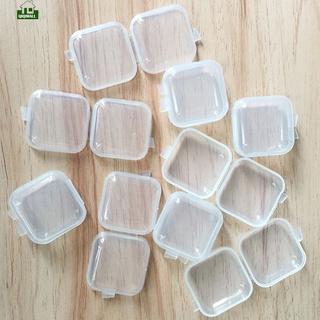 Qiqi Set 10 Hộp Nhựa Trong Suốt Hình Vuông Đựng Thuốc / Trang Sức Tiện Dụng