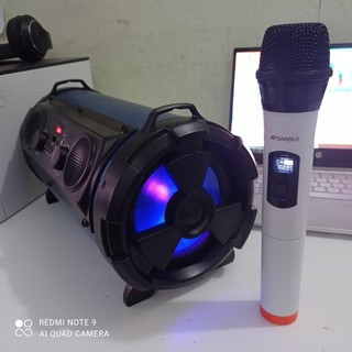 Loa karaoke không dây hát trên điện thoại tivi smart ( tặng kèm micro không dây sansui nhật )