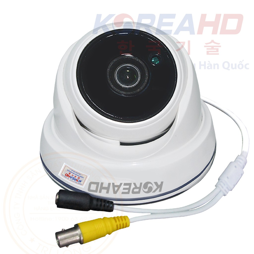 Camera KoreaHD Dome Nhựa AHD 2.0MP Mẫu 1