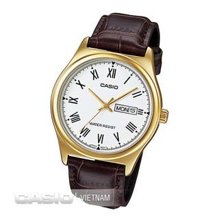 Đồng hồ nam dây da Casio Standard Anh Khuê MTP-V006GL-7BUDF