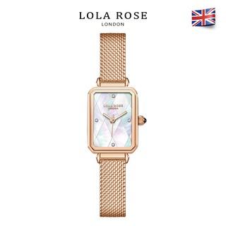 Đồng hồ nữ đẹp, đồng hồ Lolarose mặt vuông vỏ ngọc trai cao cấp, dây đeo kim loại mềm mại bảo hành 2 năm LR4182 thumbnail