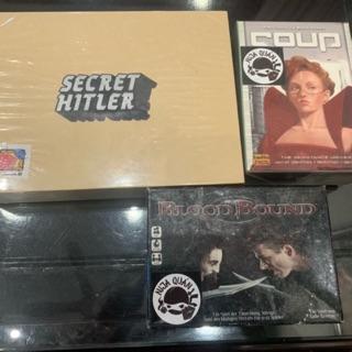 Board game 2nd_Secret Hitler, Blood Bound, Coup Reformation