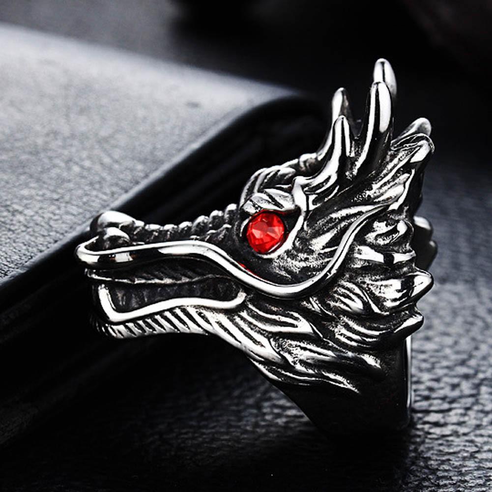 Nhẫn đầu rồng cho nam