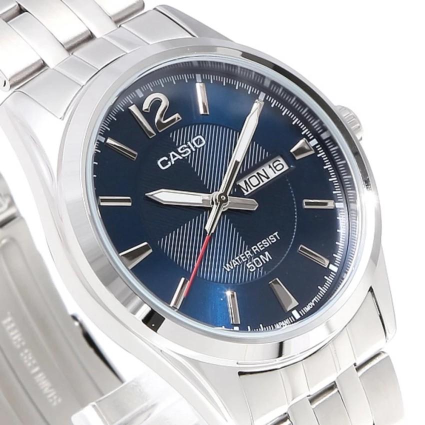 Đồng hồ nam dây kim loại Casio chính hãng Anh Khuê MTP-1335D-2AVDF