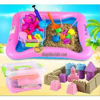 Bộ đồ chơi cát động lực/ Cát động lực học/ Bộ đồ chơi cát vi sinh-video thật