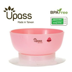 Bát ăn dặm 3 giai đoạn không BPA có đế hút chân không chống đổ - Cỡ nhỏ UP5023Y
