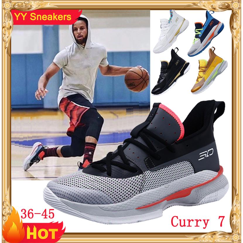 Giày bóng rổ NBA Curry 7 size: 36-45 Giày bóng rổ chống trượt  nam / nữ