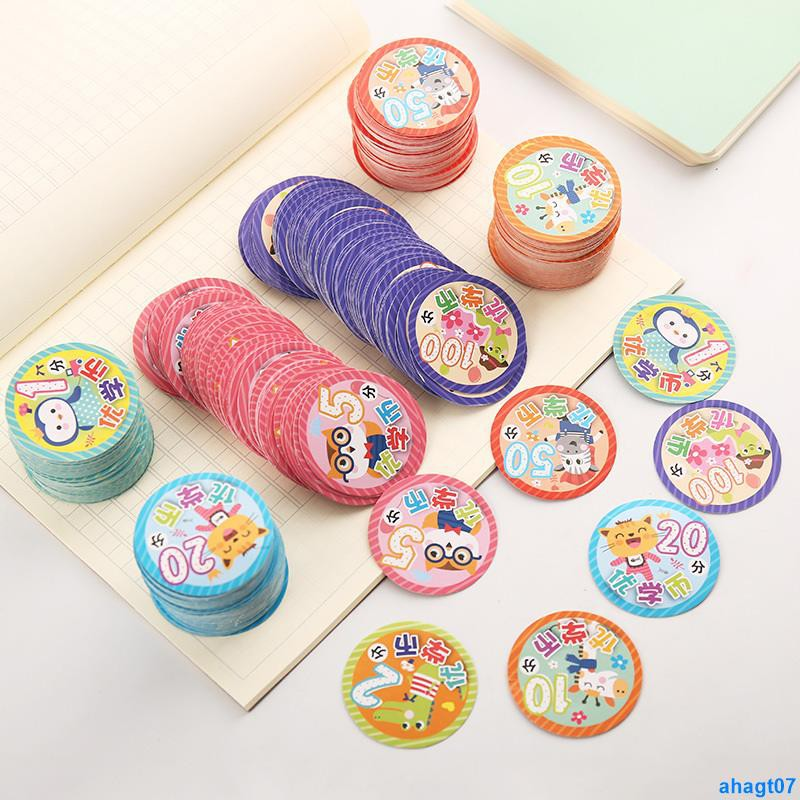 Full order250000 DongPrimary school reward card round point card parent praise card kindergarten teacher encourage card