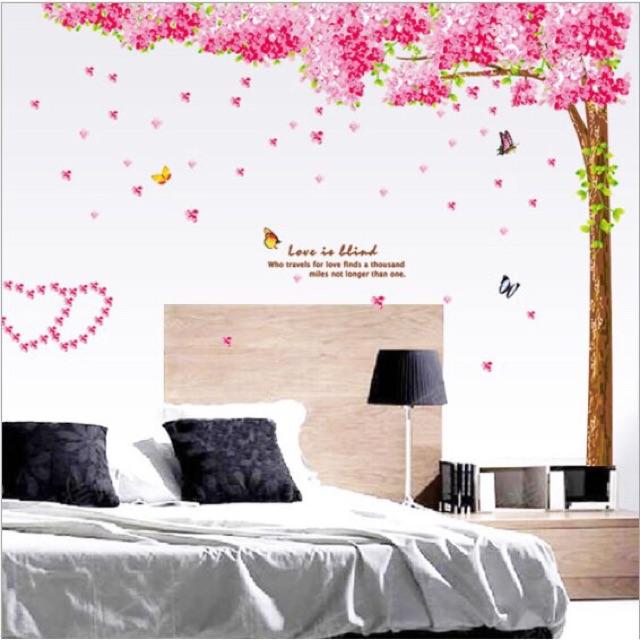 Decal trang trí Cây hồng size lớn