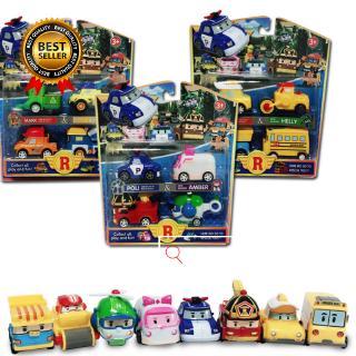 Kids Toys Anime Action Figures POLI Car Toys Metal Model Toy Car For Children Birthday Gift