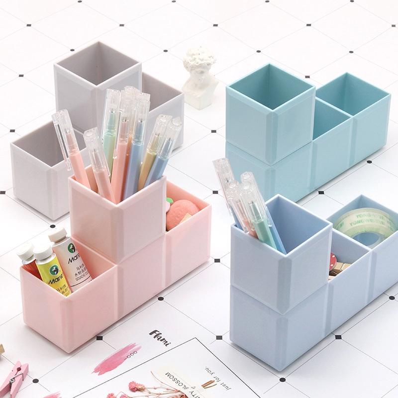 New Fashion Desktop Receiving Office Female Pen Cylinder Movable Collage Pen Box Russian Tetris Receiving Box