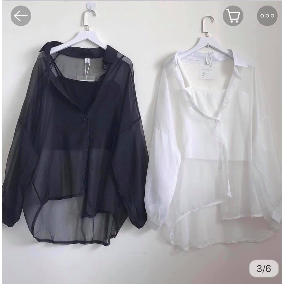[Mã WASEPRN hoàn 20% xu đơn 99k] Set Áo Sơ Mi Giấy 🦋 Bộ áo sơ mi kèm áo trong 2 màu SO HOT 🦋