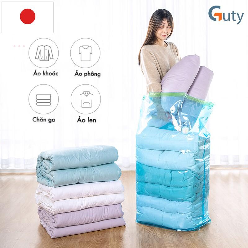 Bộ túi hút chân không Kitai đựng quần áo, chăn màn, mền gối của Nhật Bản cho gia đình, du lịch