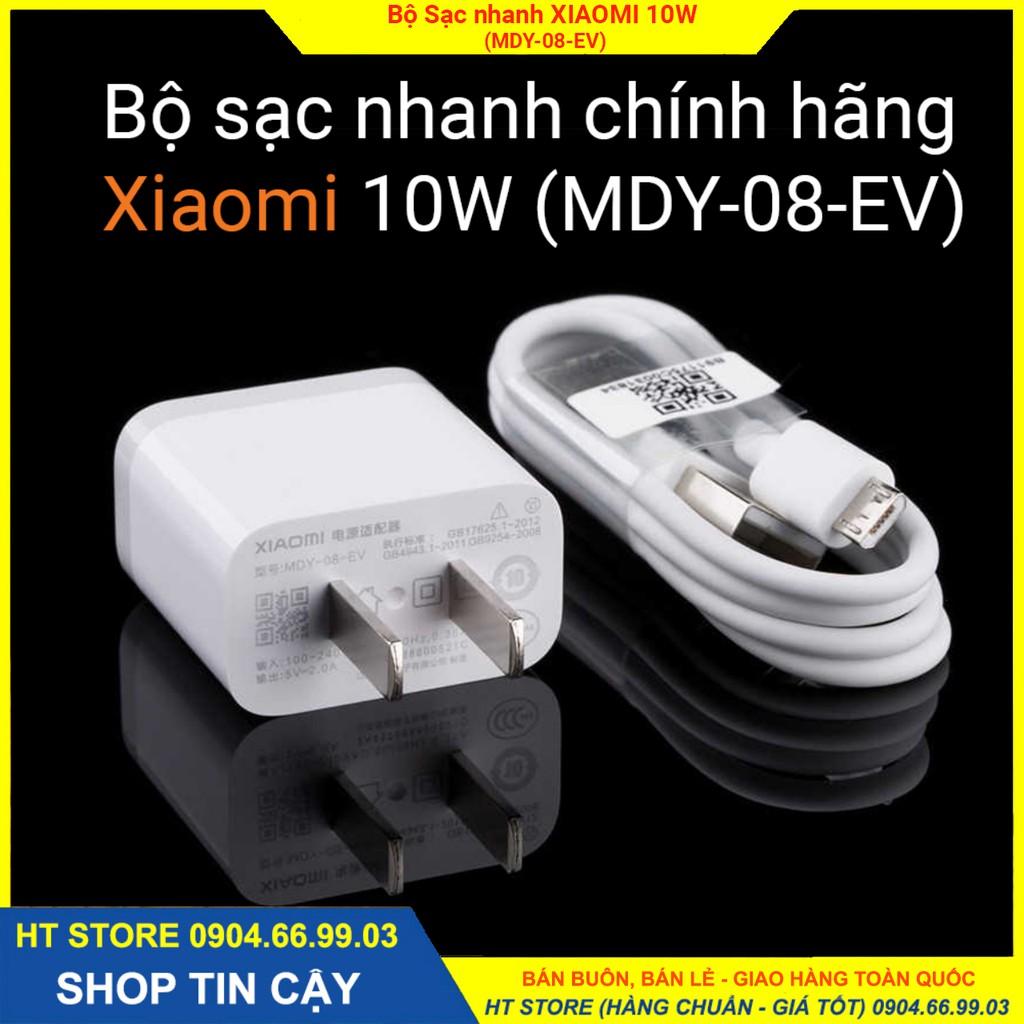 Bộ sạc nhanh Adapter XIAOMI 10W MDY-08-EV, cáp USB/Micro Chính hãng - BẢO HÀNH 6 tháng