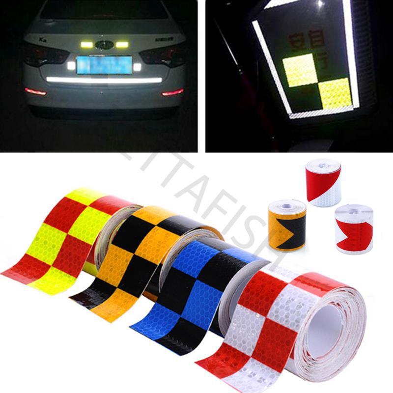 Sticker dán xe phản quang nhiều màu sắc làm từ PVC dài 4 mét tiện dụng chất lượng cao