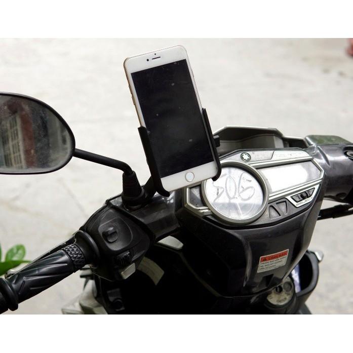 Giá đỡ điện thoại trên xe máy C2 nhôm cao cấp