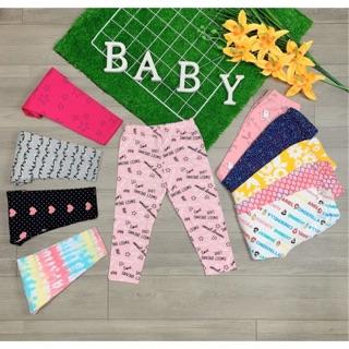 Combo 3 Quần Legging em bé vải cotton co giãn 4 chiều hàng xuất siêu mềm mịn 10-40kg