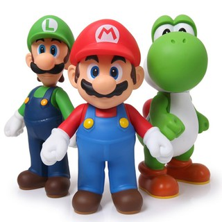 Set 3 Mô Hình Đồ Chơi Các Nhân Vật Trong Game &Quot; Super Mario Bros Mario Bros &Quot; Bằng Nhựa Pvc